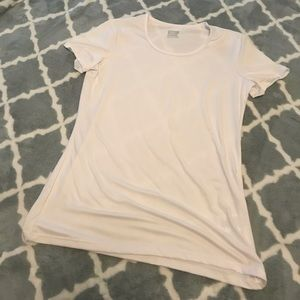 White athletic t-shirt